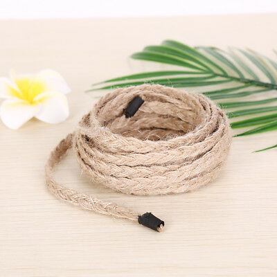 Jute Twine Natural Rustic Tags Wrap Wedding Crafts Twisted Rope String Cord Fad