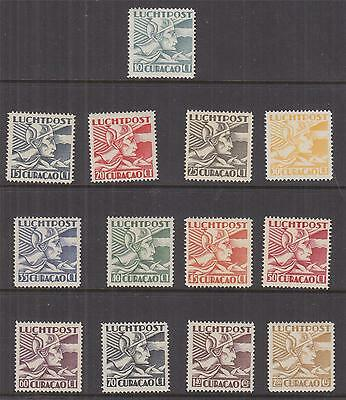 CURACAO, 1931 Air, Mercury set of 13, lhm.