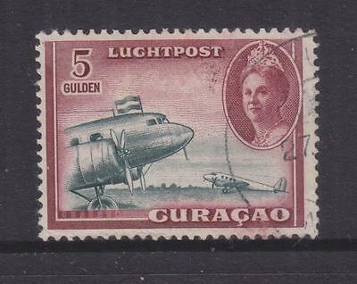 CURACAO, 1942 Air, Aeroplane, 5g. Blue Green & Claret, used.