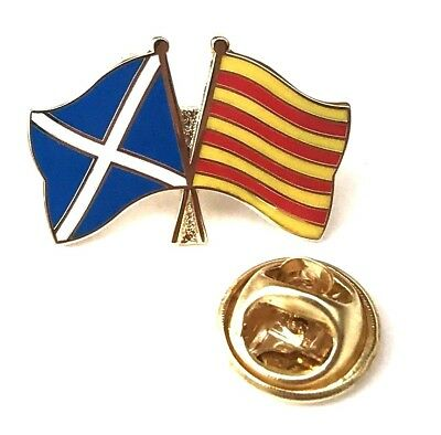 Scotland and Catalonia Friendship Lapel Pin Badge