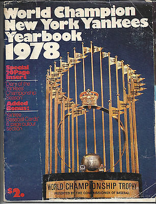 New York Yankees 1978 Yearbook with Cards Fair Condition
