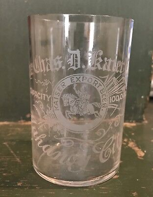 PA Pennsylvania Mahanoy City Kaiser Brewery Beer Pre Pro Prohibition Glass