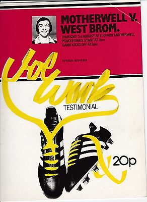 MOTHERWELL  v  WEST BROMWICH ALBION  ( Wark testimonial ).