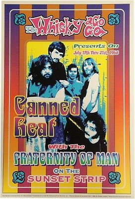 Canned Heat Whisky a Go Go 13x19 UNSIGNED Poster