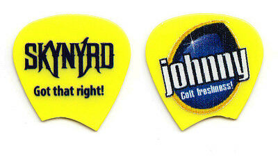 Lynyrd Skynyrd Johnny Colt Signature Concert-Used Yellow Guitar Pick - 2016 Tour