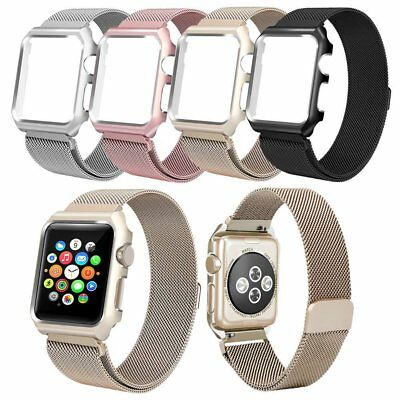 Bronze Gold Milanese Metal Band Watch Band Strap & Case For Apple Watch 38mm