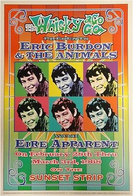 Eric Burdon & The Animals Whisky a Go Go 13x19 UNSIGNED Poster