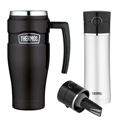 Thermos Stainless King 16oz Travel Mug w/ 16oz Drink Bottle with Tea Infuser