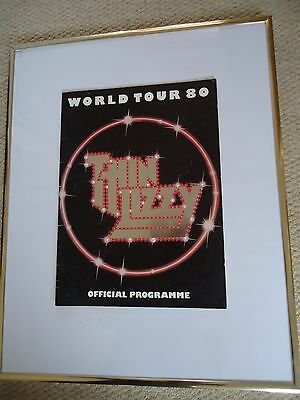 Thin Lizzy Tour Programme 1980 World Tour 80 Vintage 37 Years Rare Valuable Gem