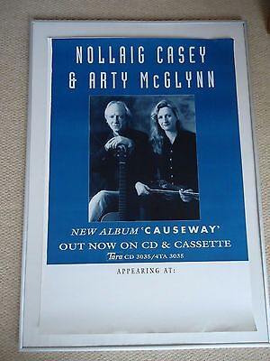 ARTY McGLYNN NOLLAIG CASEY CONCERT GIG POSTER 1995 UNRELEASED PRINTERS POSTER