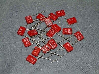 WIMA MKS .1uf 5% 100 Vdc Long Lead High Quality Polyester Capacitors - Pack of 3