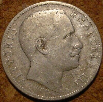**scarce**1905 Silver 2 Lire Kingdom Of Italy***nice Details******
