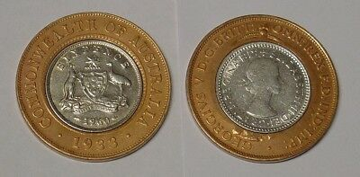 1933 and 1960. Unique Seven Pence coin type, great gift or collectors item.