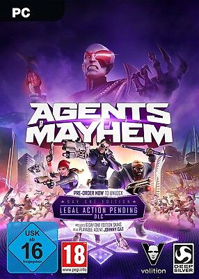 Agents of Mayhem : Day One Edition - PC Steam Key Download Code -