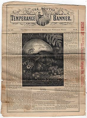 1860s THE YOUTH'S TEMPERANCE BANNER Movement SOCIETY Specimen Copy GARRIGUES