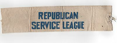 1930s REPUBLICAN SERVICE LEAGUE RSL Political SASH Hanford MacNider HOOVER