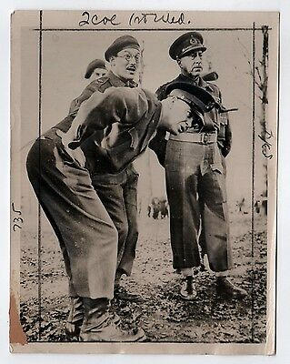 1944 WWII General Dwight Eisenhower IKE Press PHOTOGRAPH Photo MILITARY US Army