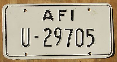 US FORCES - ITALY license plate  1990s  U-29705