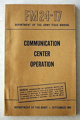 FM 24-17 Communication Center Operation DEPARTMENT ARMY Field GUIDE Military