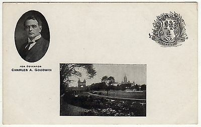 1910 CHARLES GOODWIN Connecticut Governor POLITICAL PC Postcard HARTFORD CT