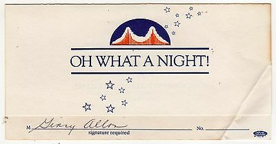 1984 DNC Democratic National Convention PARTY INVITATION Willie Brown SAN FRAN
