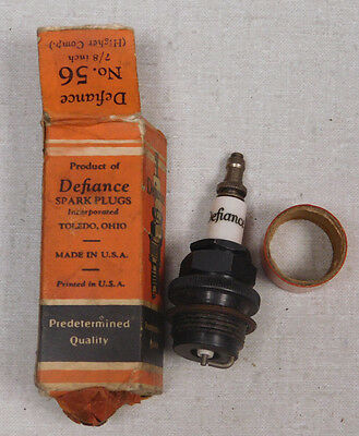 """Defiance # 56 spark plug size 7/8"""" with box"""