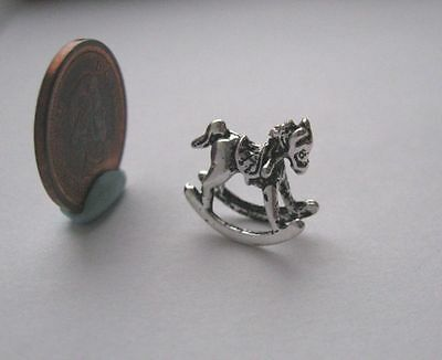 "Dollhouse Miniature Rocking Horse Toy 1:48 1/4"" Scale"