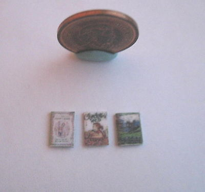 3 x DOLLHOUSE MINIATURE BOOKS BOOK SECRET GARDEN HOBBIT CHARLOTTES WEB 1:24