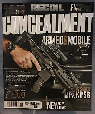 RECOIL PRESENTS CONCEALMENT Magazine Nov. 2017 ISSUE #7 Armed & Mobile BRAND NEW