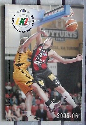 Yearbook basketball Lietuvos Rytas Lithuania 2005-06