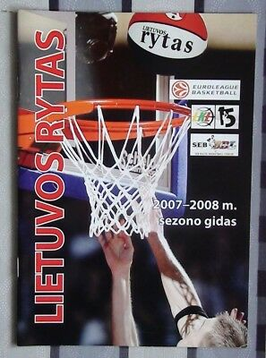 Yearbook basketball Lietuvos Rytas Lithuania 2007-08