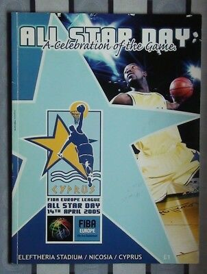Programs All-star Games FIBA 2005, Cyprus