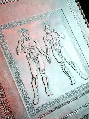 GAY Wedding Album or Guest Book - Handmade Leather - Michaelangelo David & David