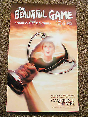 The Beautifaul Game London Musical Theatre Poster Loyd Webber