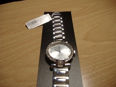 NY&C Silver Tone Clear Rhinestone Lady's Watch New with Tag - 86.4 Grams