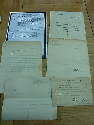 Ww1 1915 & 1919 Letters To Sub Lt J W Norman Rnvr Inc Card Trying To Go To Front