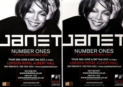 JANET JACKSON NUMBER ONES TOUR FLYERS x 2