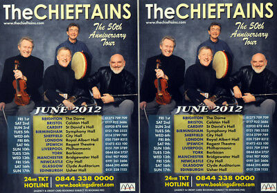 THE CHIEFTAINS 5OTH ANNIVERSARY TOUR FLYERS x 2 IRISH TRADITIONAL MUSIC