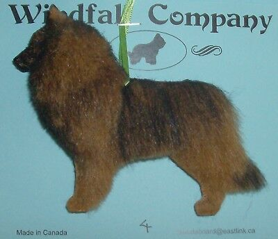 Belgian Tervuren Dog Plush Christmas Canine Ornament # 4 by WC