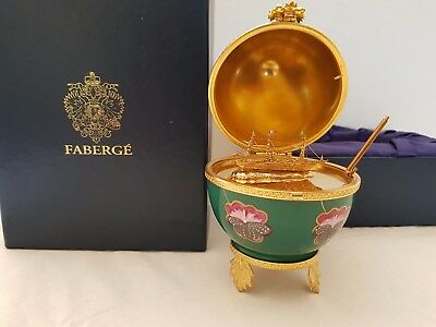 Faberge Authentique Oeuf Faberge Pansy Egg