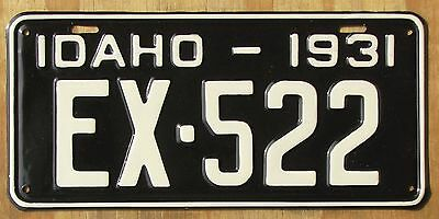 1931 IDAHO EXEMPT license plate  PROFESSIONAL RESTORATION  1931  EX-522