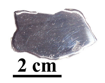 NEW !!! Twannberg Iron IIG meteorite, excellent complete slice, 6.07 grams
