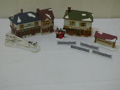 Department 56 Dicken's Village Scrooge & Marlet The Old Curiosity Shop Lot of 5