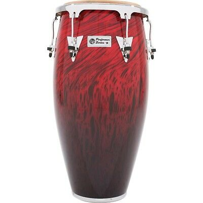 LP Performer Series Conga with Chrome Hardware 12.5 in. Tumba Red Fade LN