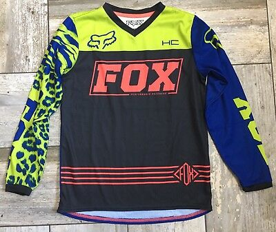FOX RACING Girls Kids Sz 8 180 MX Top Worn Once
