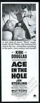 1951 Kirk Douglas photo Ace in the Hole movie release vintage print ad