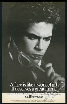 1984 Rob Lowe photo by Greg Gorman LA Eyeworks BIG vintage print ad