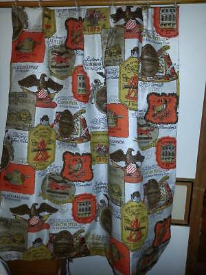 Vintage Drapes Curtains 8 Panels Camper? 50's? 60's Pleated Eagle Liberty