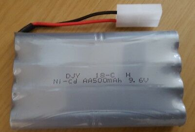 9.6V NI-CD Rechargeable Battery for 1.10 drift car & 20mph remote control car