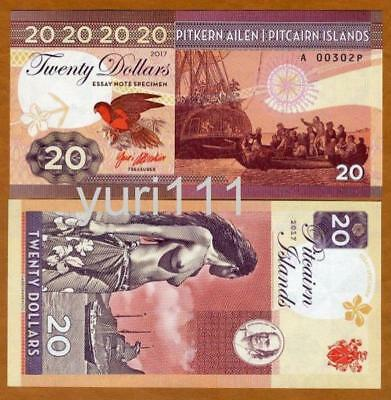 Pitcairn Islands, $20 private issue, 2017, Bounty, Polynesian Nude